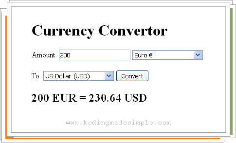 google api currency conversion php