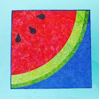 Batik watermelon quilt
