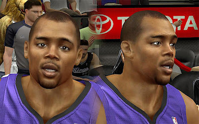 NBA 2K13 Chuck Hayes Cyberface Patch