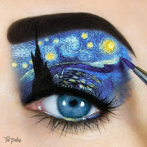 06-Vincent-van-Gogh-Tal-Peleg-Eye-Make-Up-Art-Drawings-www-designstack-co