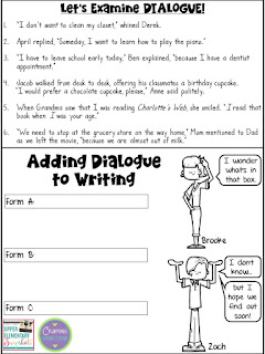 Upper Elementary Snapshots: Adding Dialogue to Writing: A ...