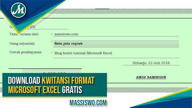 Download Format Kwitansi Excel Yang Bisa Di Edit