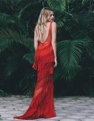 vestido rojo  largo juvenil para el verano 2018