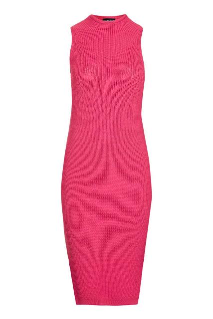 red sleeveless dress, red high neck dress, topshop red dress,