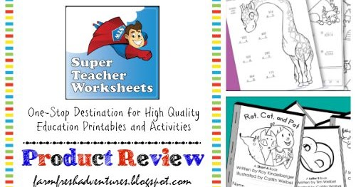 Farm Fresh Adventures: Super Teacher Worksheets: One Stop ...