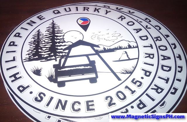Circular Car Magnets - Philippine Quirky Roadtrip