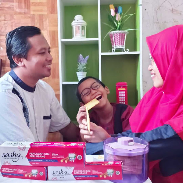 Sasha Pasta Gigi Halal dengan Kandungan Siwak Asli,  Efektif Mencegah Gigi Berlubang