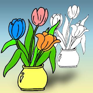 Раскаски цветы