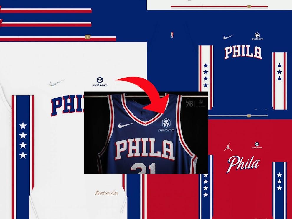NBA 2K22 / 2K21 Philadelphia 76ers Updated Jersey Sponsor Patch (crypto.com) by 2kspecialist