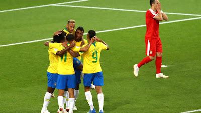 Brasil vence a Sérvia e avança em primeiro lugar para as oitavas