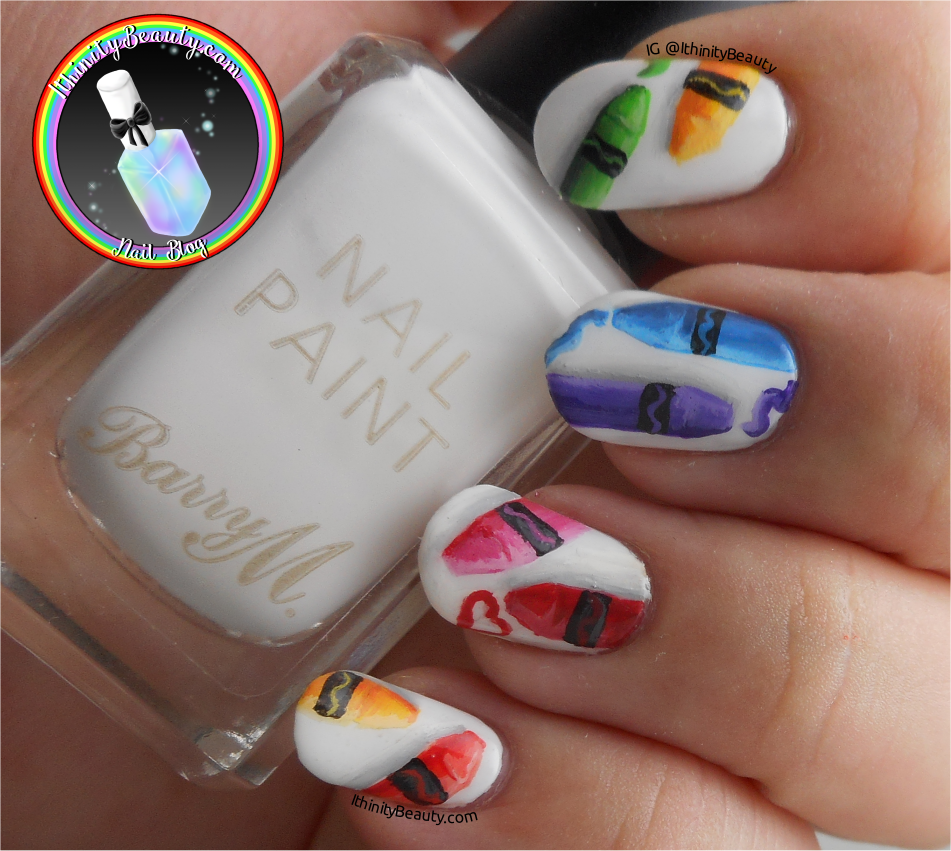 Freehand Crayola Wax Crayon Nail Art Ithinitybeauty Nail Art Blog