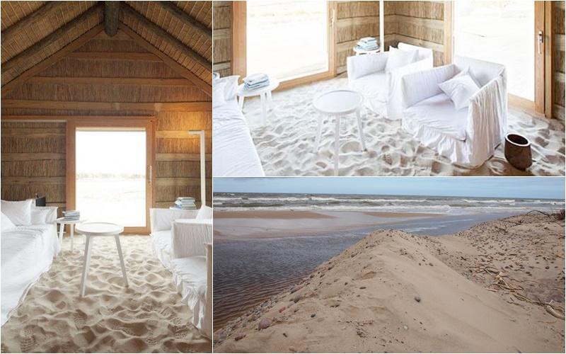 podłoga z piachu