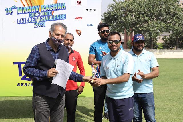 Manav Rachna 14th Corporate Cricket Challenge : Architect Sprots Trust & NHAI WON MATCH