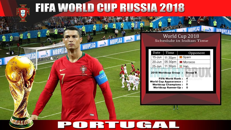 Downloadable Schedule of Team Portugal at FIFA 2018 World Cup