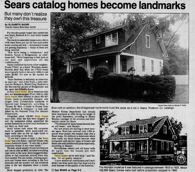 Sears kit house 1989 Courier-News page 35 June 16