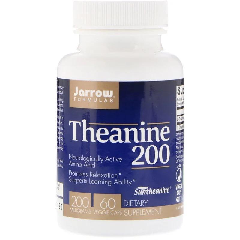 Jarrow Formulas, Теанин 200, 200 мг, 60 вегетарианских капсул