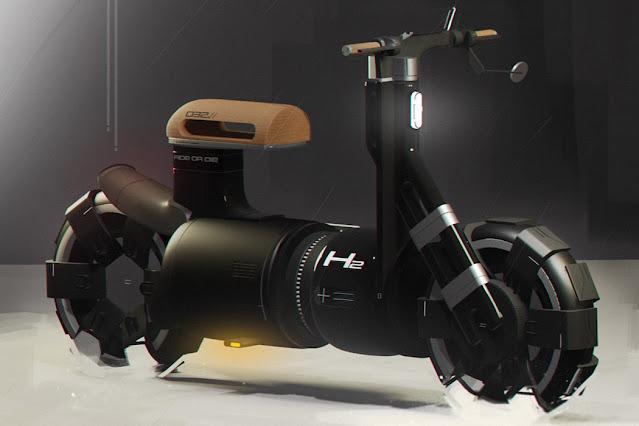 Coffee Machine Inspired Futuristic Electric Bike