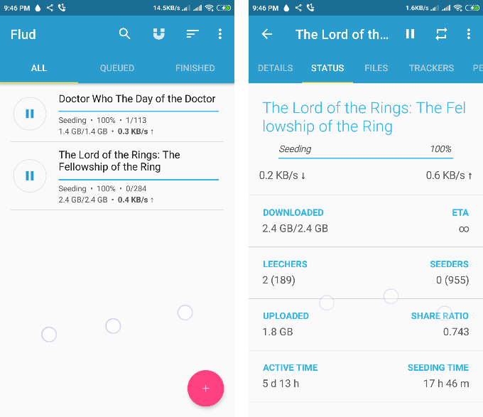 Flud : Torrent download manager for Android