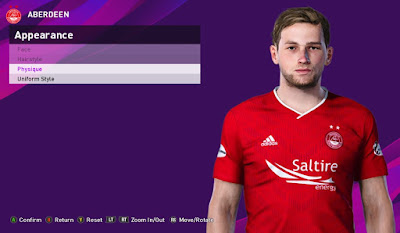 PES 2020 Faces James Wilson by Rachmad ABs