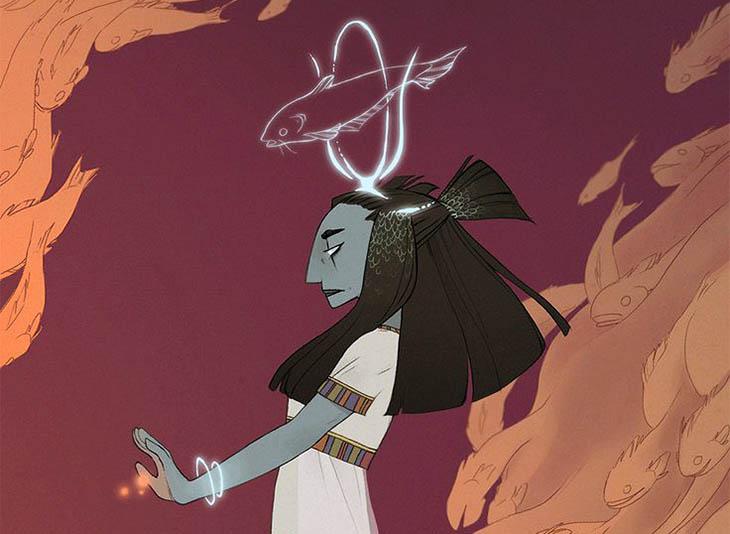 A,mitoloji, mısır mitolojisi, Mısır Tanrıçaları, Balık tanrıçası,Balık tılsımı