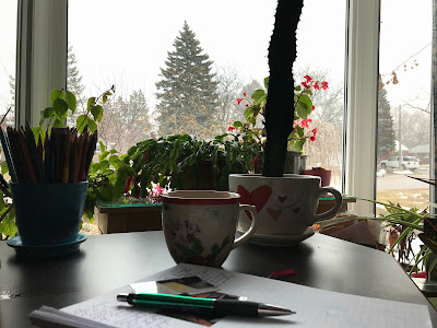 April 6, 2018 Writing quietly and remembering.