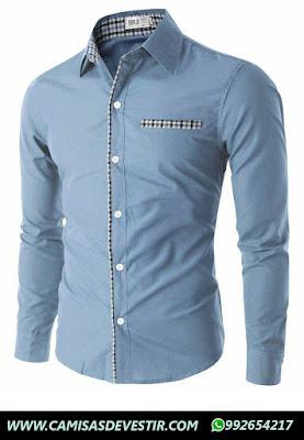 Camisa Azul Slim Fit Jesús Maria
