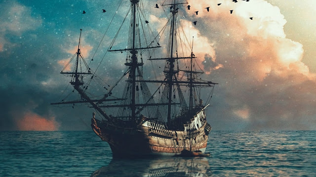 Ship On Sea Fantasy Wallpaper