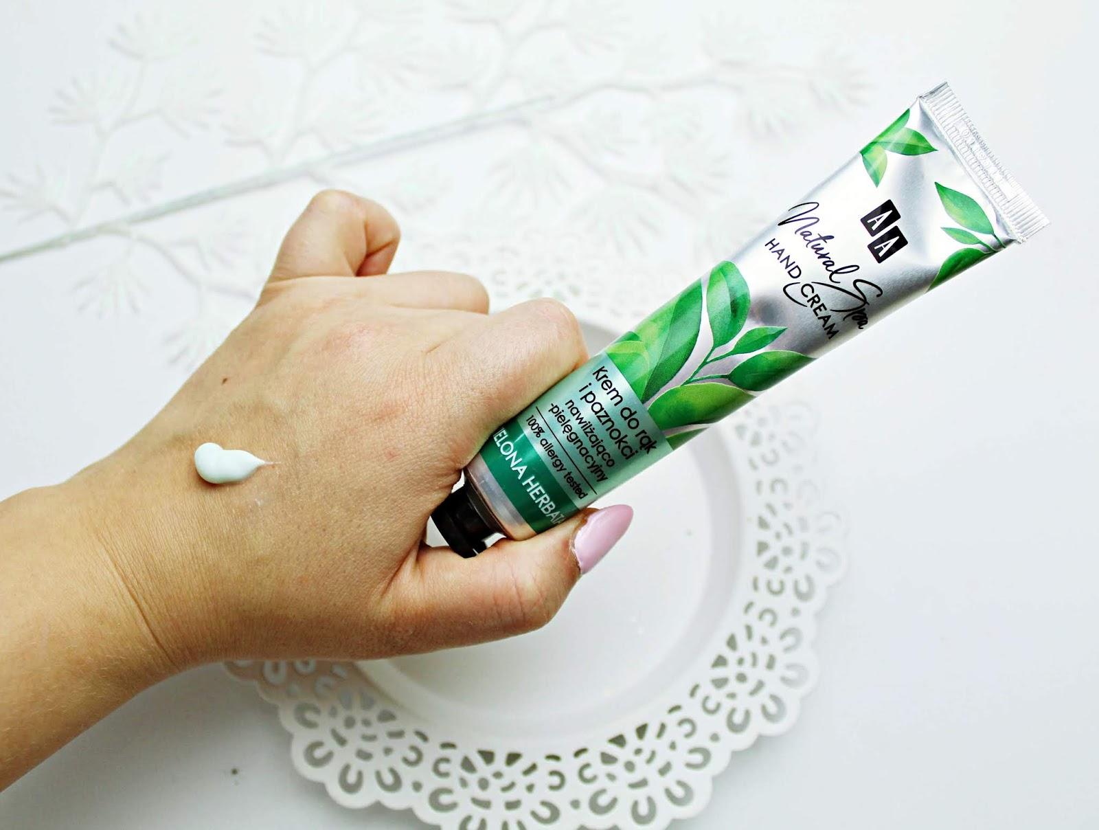 AA Natural Spa Krem nawilżająco-pielęgnacyjny do rąk i paznokci z zieloną herbatą