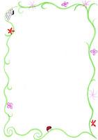 Brevpapir blomster