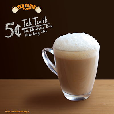 5 Cents Teh Tarik Place Merdeka Day Discount Promo