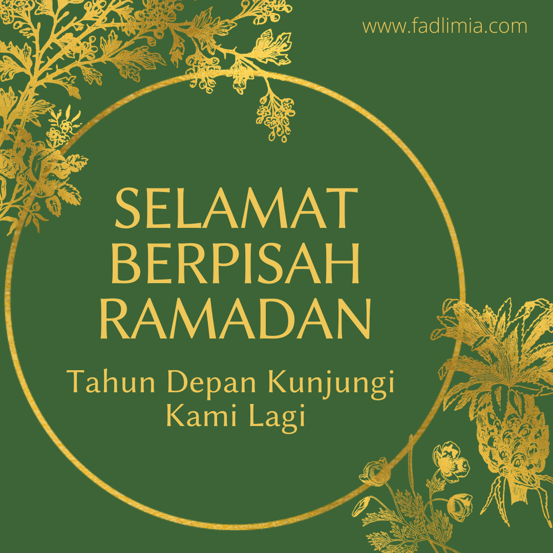 selamat jalan Ramadan