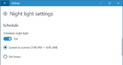 تفعيل الضوء الليلي في ويندوز 10 لحماية العينين من الأشعة 2