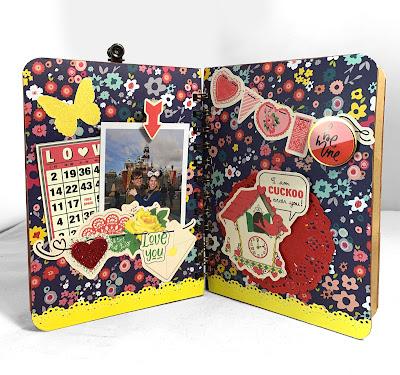 KB and Friends' Retro Valentine's Day Mini Album Bird Inside Page