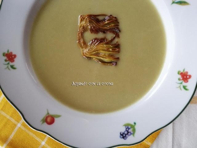 Crema De Alcachofas Con Caldo Aneto