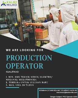 Lowongan Operator Produksi PT Kalbe Milko Indonesia Via Email