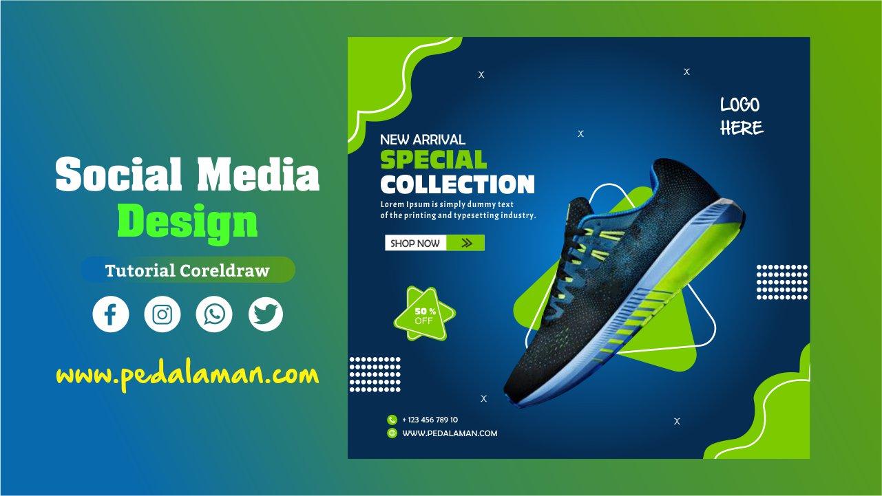 Membuat desain flyer gratis sepatu sneakers
