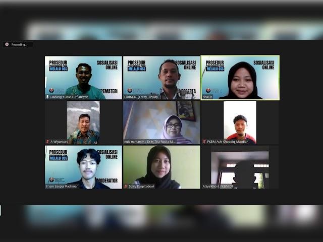 Sosialisasi Online Prosedur Pengembangan PKBM Melalui Online Single Submission