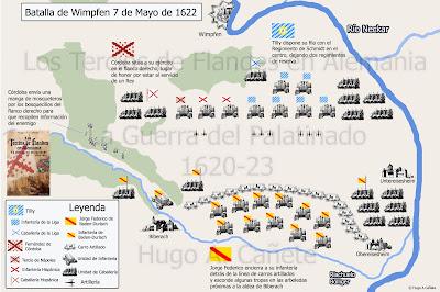Disposición de la batalla de Wimpfen, por Hugo Cañete