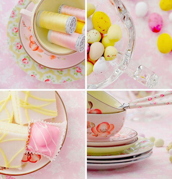 Pink and yellow lovely photo styling inspiration