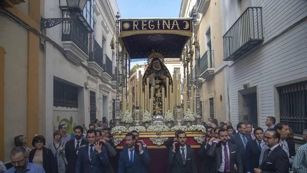 Horario e Itinerario Rosario de la Aurora de La Virgen del Rosario de Montesión. Sevilla 01 de Noviembre del 2021