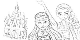 Frozen II Arendelle Castle Playset coloring pages coloring.filminspector.com