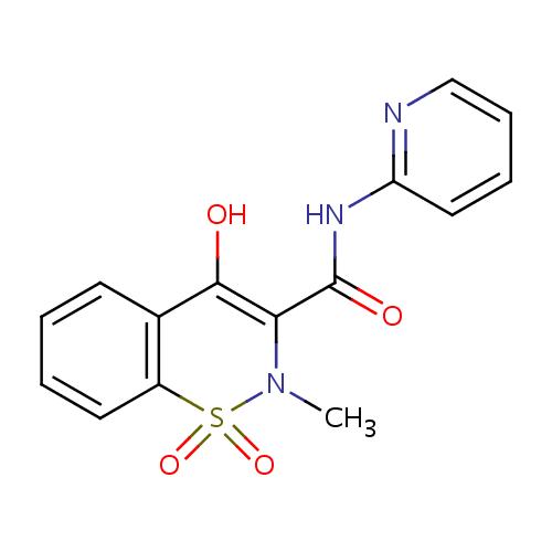 Struktur Kimia Piroksikam (Piroxicam)