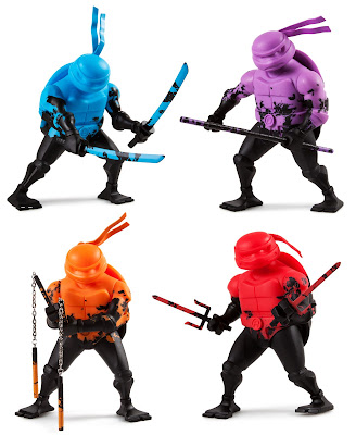 Kidrobot Exclusive Teenage Mutant Ninja Turtles Stylized Vinyl Figures by Kidrobot
