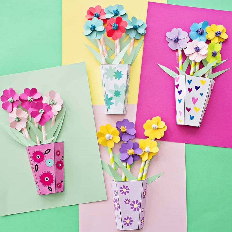 3d paper flower bouquets for mothers day