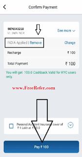 Mobikwik new user cashback offer