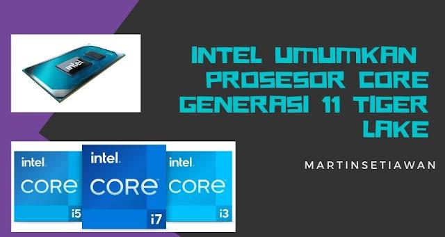 peluncuran prosesor Intel core generasi 11
