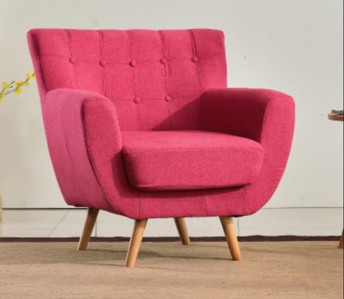 Dark Pink minimalist sofa single couch for kids elegant