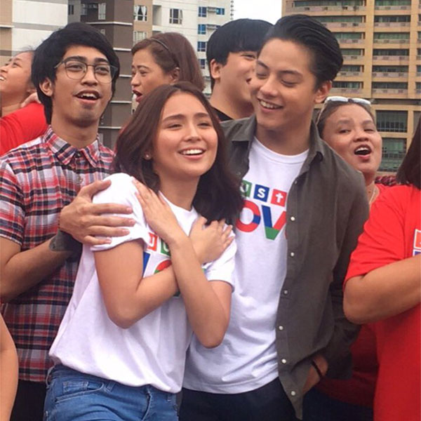 Photos: Kathryn Bernardo and Daniel Padilla in ABS-CBN Christmas Station ID