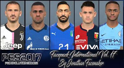 PES 2017 Facepack International Vol. 17 By Jonathan Facemaker