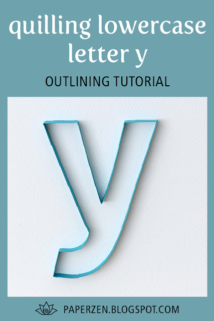 quilling lowercase letter y monogram outline tutorial pattern